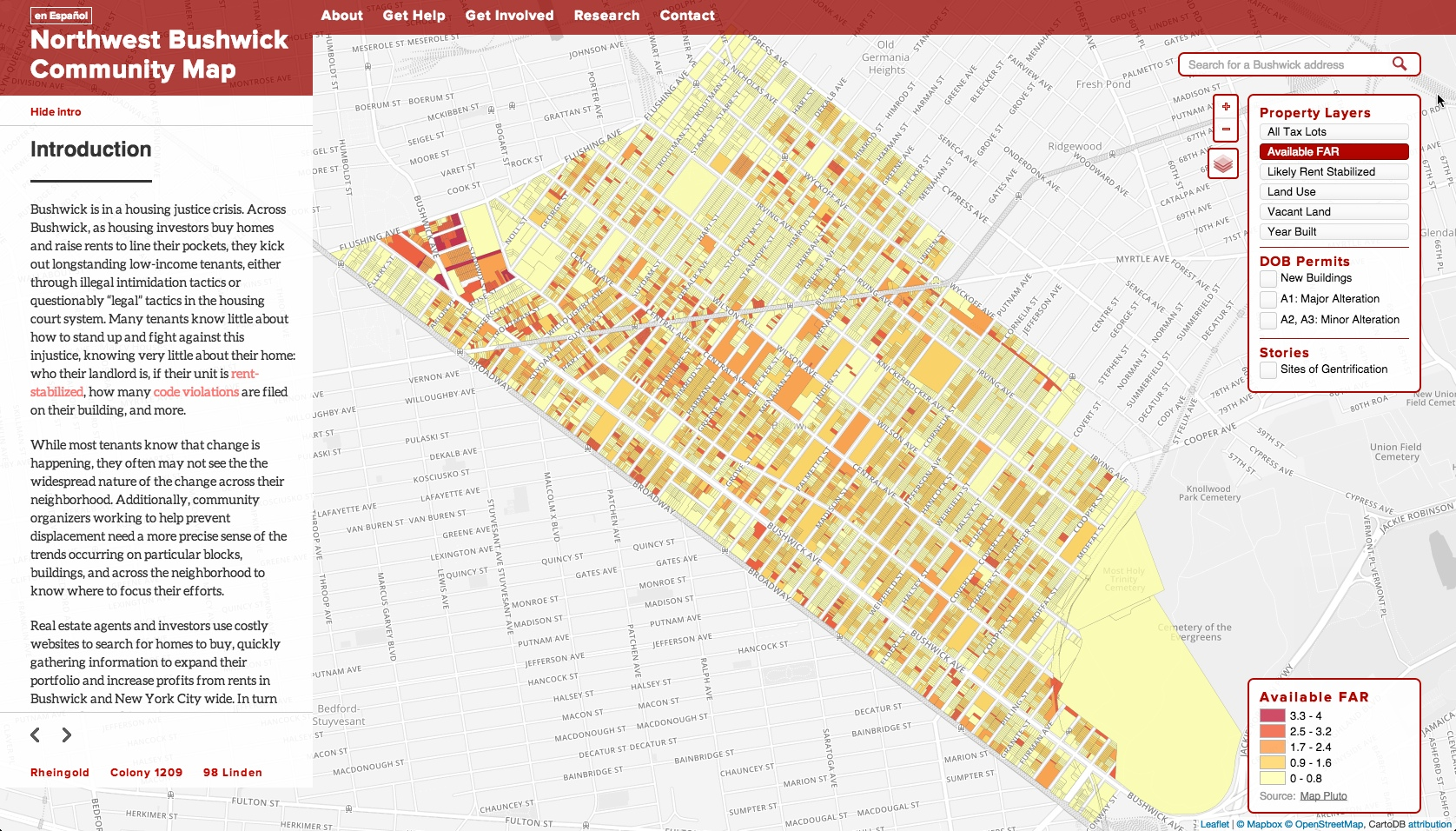 North West Bushwick Community Map redesign 2014